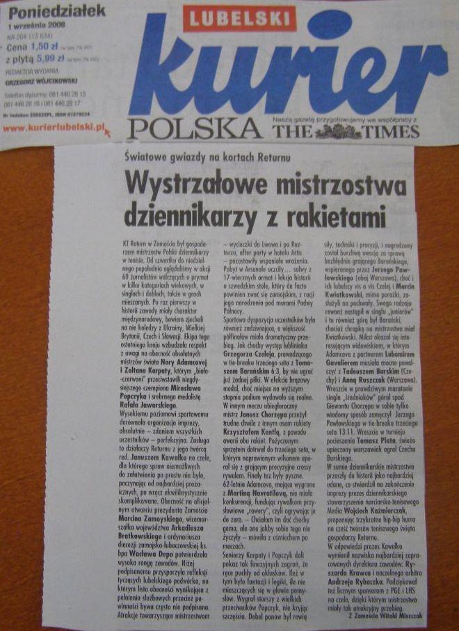 Kurier Lubelski o mistrzostwach w Zamościu