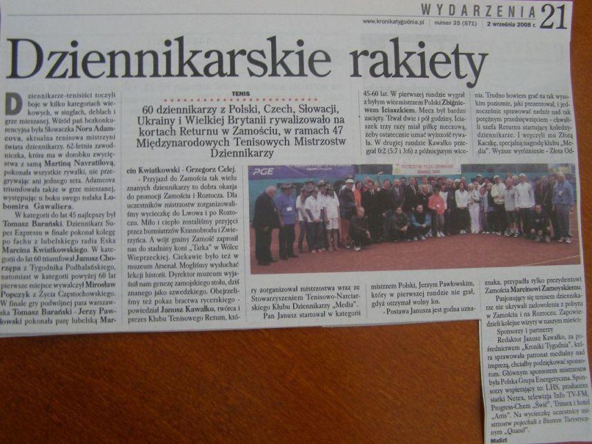 Kronika Tygodnia o mistrzostwach w Zamościu