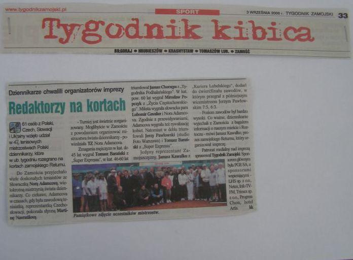 Tygodnik Zamojski o mistrzostwach w Zamościu